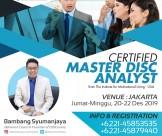 Certified Master DISC Analyst - Jakarta 20 -22 Desember 2019